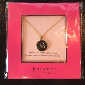 Kate Spade M Initial Necklace